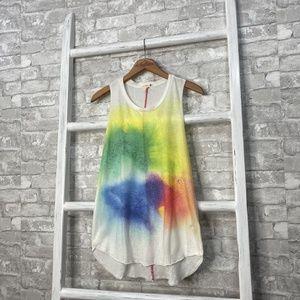 Sundry Rainbow Tie Dye Tank Top Size 2 Medium